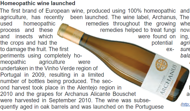 Homeopathic Wine