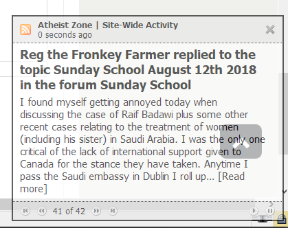 an rss notification popup
