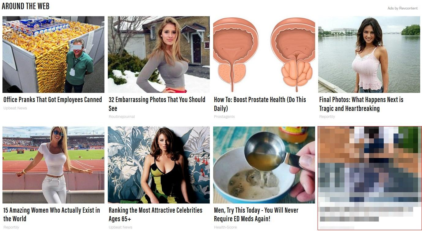 ads that follow Unseen's Maxim article