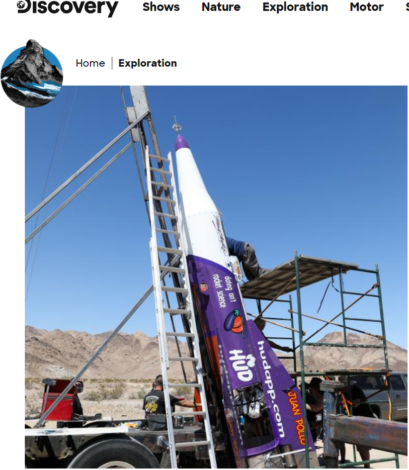 pic of Mad Mike's home-made rocket