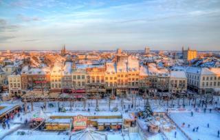 De Vrijthot Kerstmarkt, Maastricht, Nederland