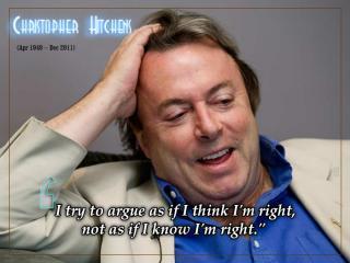 Christian Hitchens - Argue