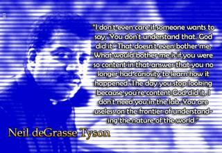 Neil DeGrasse Tyson - God did it